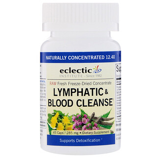 Eclectic Institute, Lymphatic & Blood Cleanse, 285 mg, 45 Veggie Caps