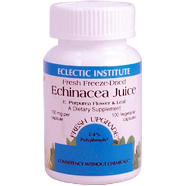Eclectic Institute, Echinacea Juice, E. Purpurea Flower & Leaf, 100 mg, 100 Veggie Caps (Discontinued Item)