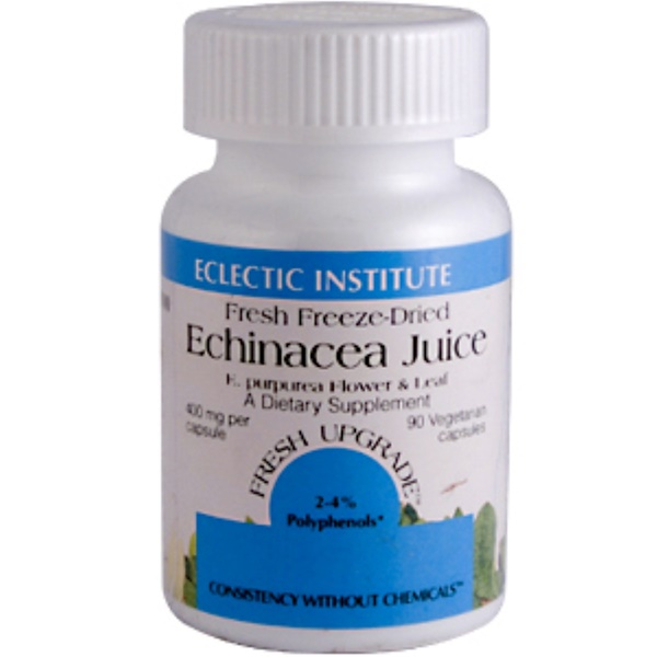 Eclectic Institute, Echinacea Juice, 400 mg, 90 Veggie Caps (Discontinued Item)