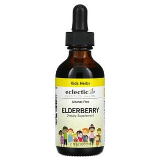 Eclectic Institute, Kids Herbs, Elderberry, 2 fl oz (60 ml)