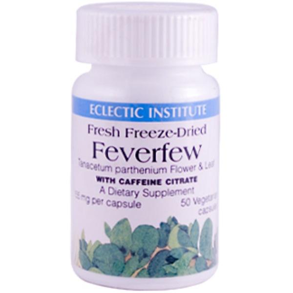 Eclectic Institute, Feverfew with Caffeine, 155 mg, 50 Veggie Caps (Discontinued Item)