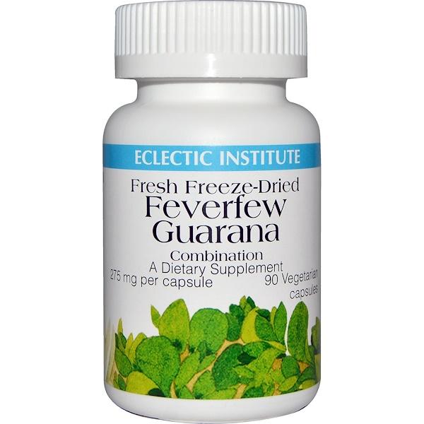 Eclectic Institute, Feverfew Guarana Combination, 275 mg, 90 Veggie Caps (Discontinued Item)