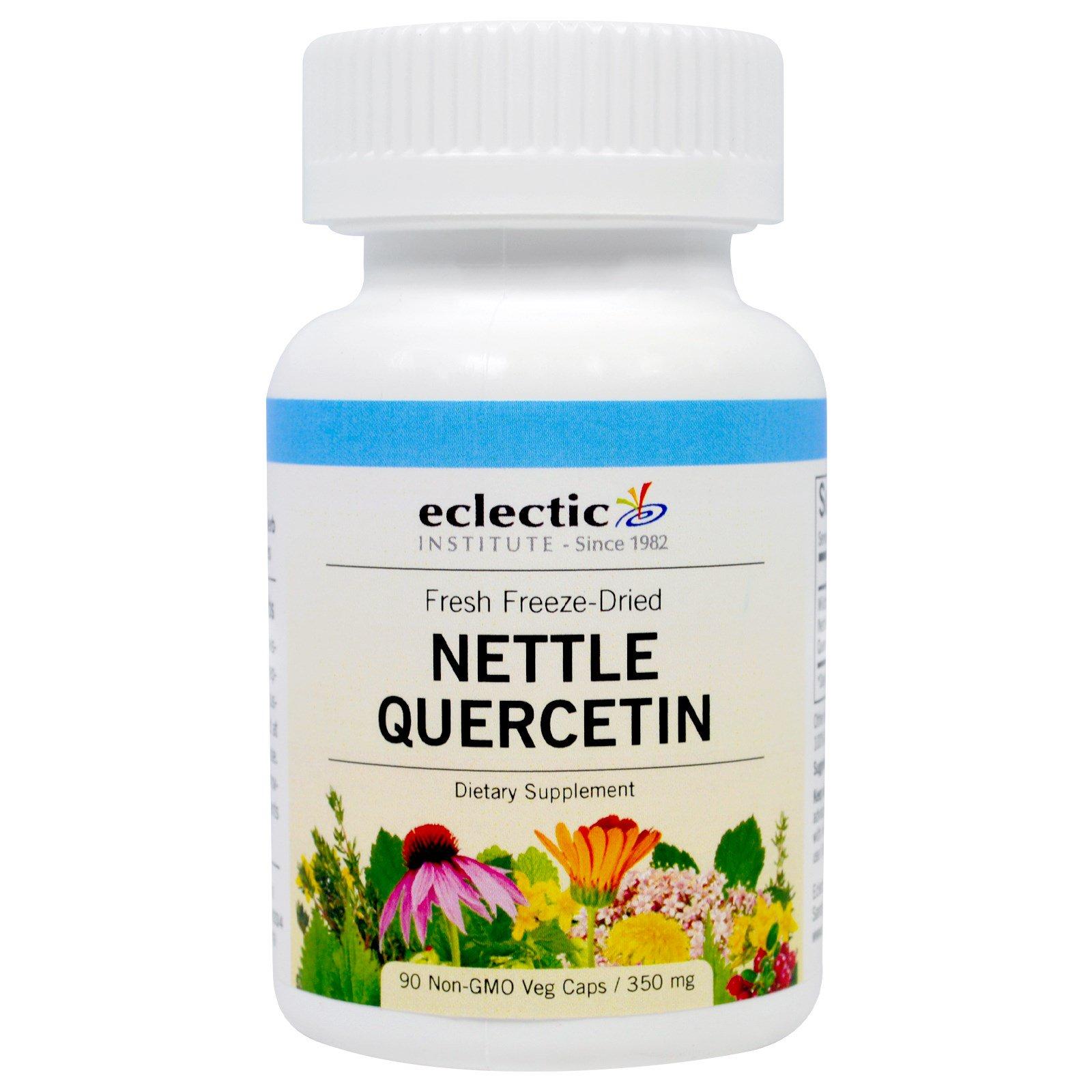 Eclectic Institute, Кверцетин Stinging Nettle, 350 мг, 90 вегетарианских капсул