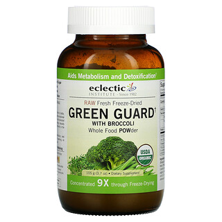 Eclectic Institute, Raw Fresh Freeze-Dried, Green Guard with Broccoli, Whole Food POWder, 3.7 oz (105 g)