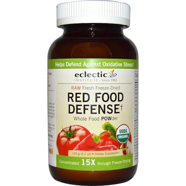 Eclectic Institute, Порошок Red Food Defense, сырой, 4,2 унции (120 г) (Discontinued Item)