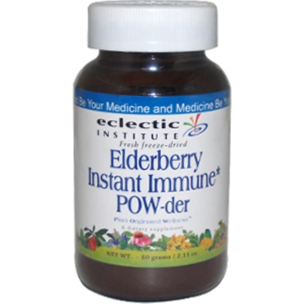 Eclectic Institute, Elderberry Instant Immune Pow-der, 2.11 oz (60 g) (Discontinued Item)