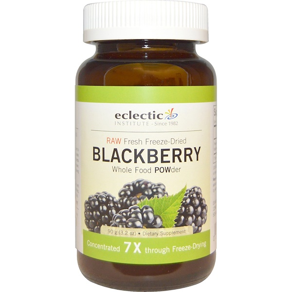 Eclectic Institute, Blackberry POWder, Raw, 3.2 oz (90 g)