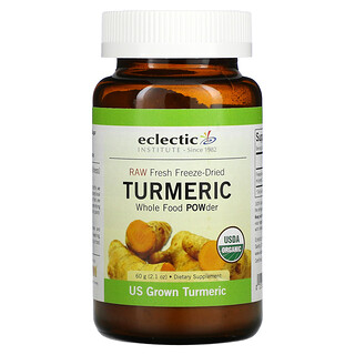 Eclectic Institute, Raw Fresh Freeze-Dried, Turmeric, 2.1 oz (60 g)