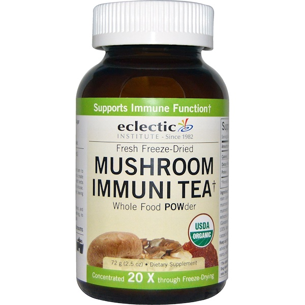 Eclectic Institute, Mushroom Immune Tea, Whole Food POWder, 2.5 oz (72 g) (Discontinued Item)