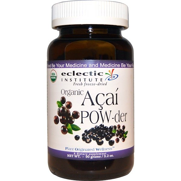 Eclectic Institute, Organic Açai POW-der, 3.2 oz (90 g) (Discontinued Item)