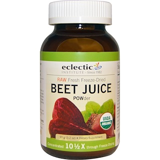 Eclectic Institute, Organic, Beet Juice POWder, 3.2 oz (90 g)