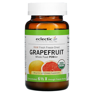 Eclectic Institute, Raw Fresh Freeze-Dried, Grapefruit, 3.2 oz (90 g)