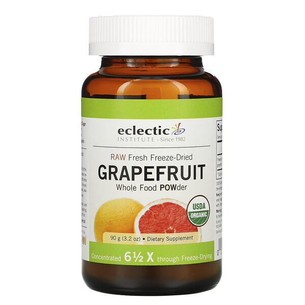 Eclectic Institute, Grapefruit POWder, Raw, 3.2 oz (90 g)