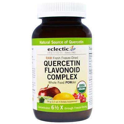 Eclectic Institute Кверцетин, комплекс флавоноидов, порошок из цельных пищевых продуктов, 3,2 унции (90 г)