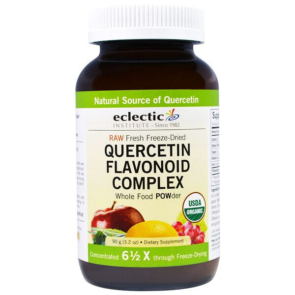 Eclectic Institute, Quercetin Flavonoid Complex, Whole Food POWder, 3.2 oz (90 g)