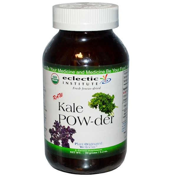 Eclectic Institute, Raw Kale POW-der, 3.2 oz (90 g)
