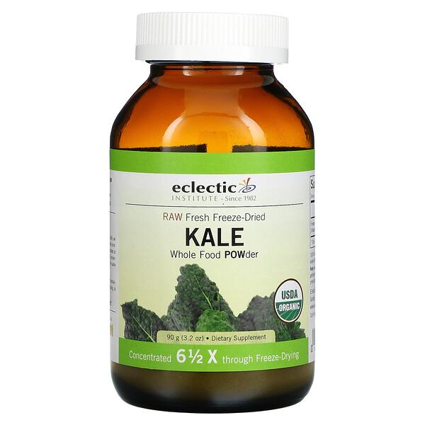 Raw Fresh Freeze-Dried Kale Whole Food POWder, 3.2 oz (90 g)