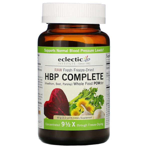 Eclectic Institute, Raw Fresh Freeze-Dried, HBP Complete, Whole Food POWder, 3.2 oz (90 g) (Discontinued Item)