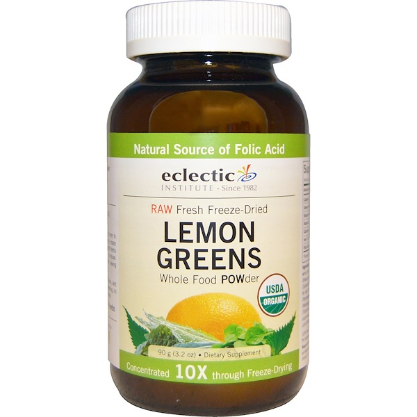 Eclectic Institute, Lemon Greens Whole Food POWder, 3.2 oz (90 g)
