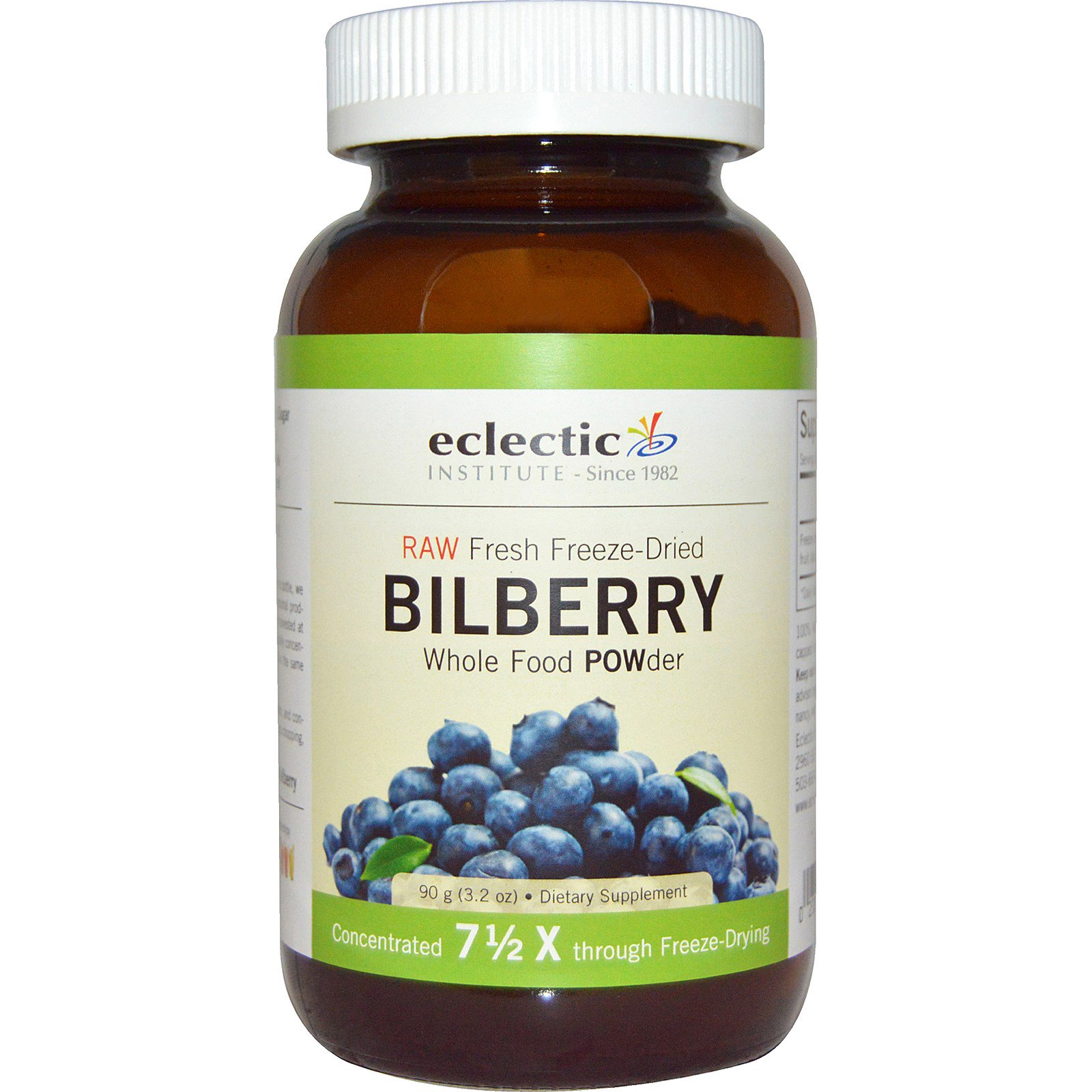 Eclectic Institute Bilberry Whole Food Powder 3 2 Oz 90 G Iherb