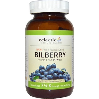 Eclectic Institute, Bilberry, Whole Food  POWder, 3.2 oz (90 g)