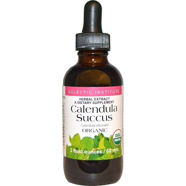 Eclectic Institute, Calendula Succus, Organic, 2 fl oz (60 ml) (Discontinued Item)