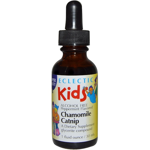 Eclectic Institute, Kids, Chamomile Catnip, Alcohol Free, Peppermint Flavored, 1 fl oz (30 ml) (Discontinued Item)