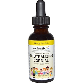 Eclectic Institute, Herbs For Kids, Neutralizing Cordial, Peppermint Flavored, 1 fl oz (30 ml)