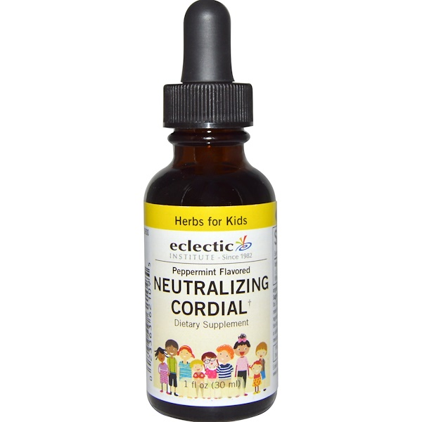 Eclectic Institute, Herbs For Kids, Neutralizing Cordial, Peppermint Flavored, 1 fl oz (30 ml) (Discontinued Item)