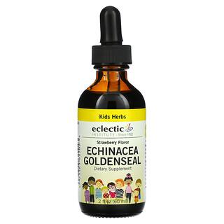 Eclectic Institute, Kids Herbs, Echinacea Goldenseal, Strawberry, 2 fl oz (60 ml)