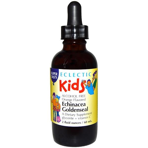 Eclectic Institute, Kids, Echinacea Goldenseal, Orange Flavored, 2 fl oz (60 ml) (Discontinued Item)