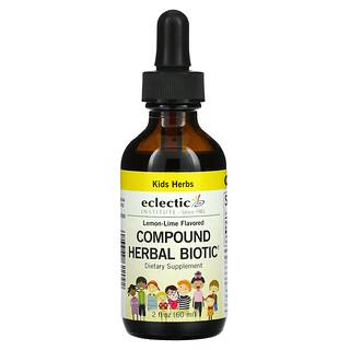 Eclectic Institute, Kids Herbs, Compound Herbal Biotic, Lemon-Lime, 2 fl oz (60 ml)