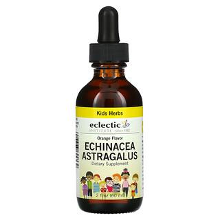 Eclectic Institute, Kid Herbs, Echinacea, Astragalus, Orange, 2 fl oz (60 ml)