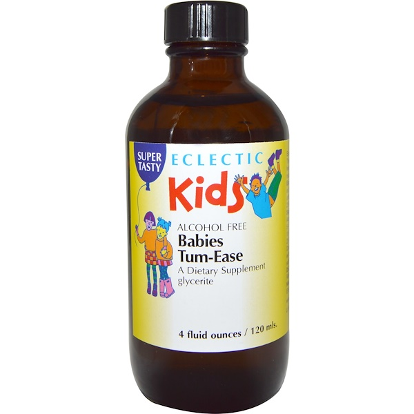 Eclectic Institute, Kids, Babies Tum-Ease, Alcohol Free, 4 fl oz (120 ml) (Discontinued Item)