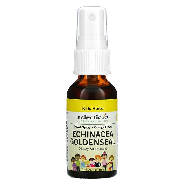Kids Herbs, Echinacea Goldenseal, Orange, 1 fl oz (30 ml)