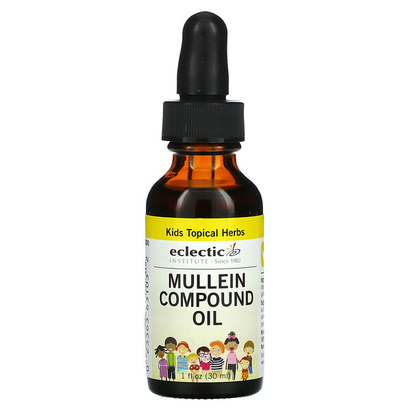 Kids Topical Herbs, Mullein Compound Oil, 1 fl oz (30 ml)