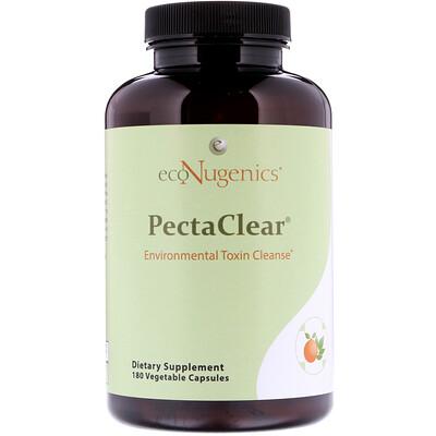 Купить Econugenics PectaClear, Средство для выведения токсинов, проникающих в организм из окружающей среды, 180 растительных капсул