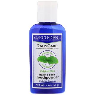 Eco-Dent, Ежедневный уход,  зубной порошок с пищевой содой, с запахом мяты, 2 унции (56 г)