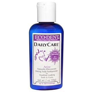 Eco-Dent, Daily Care, Baking Soda Toothpowder, Anise, 2 oz (56 g)