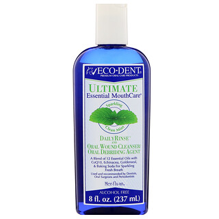 Eco-Dent, Ultimate Essential MouthCare, Daily Rinse & Oral Wound Cleanser, Sparkling Clean Mint, 8 fl oz (237 ml)