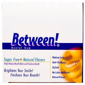 Эко Дент, Between! Dental Gum, Sugar Free, Wintergreen, 12 Sleeves, 12 Pieces Per Sleeve отзывы