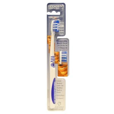 Terradent Med5 зубная щетка для взрослых средней жесткости, 1 зубная щетка, 1 запасная насадка