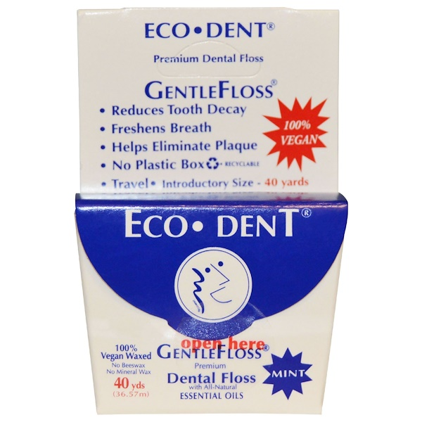 Eco-Dent, GentleFloss, Mint, 40 Yds (36.57 m) (Discontinued Item)