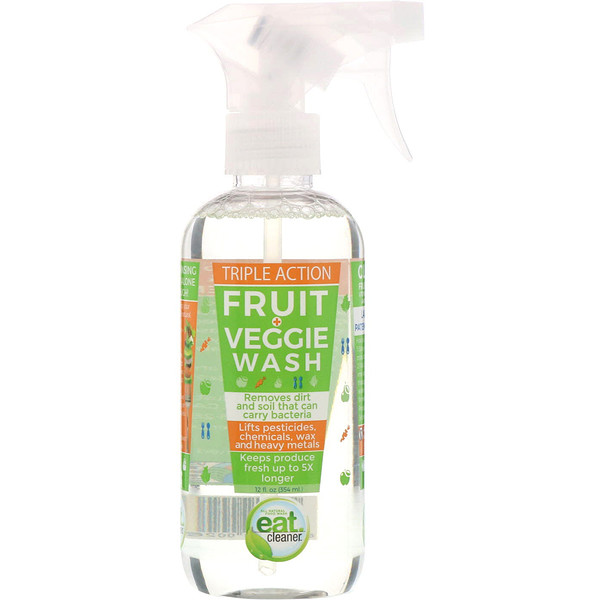 Eat Cleaner, Triple Action Fruit and Veggie Wash, 12 fl oz (354 ml) (Discontinued Item)