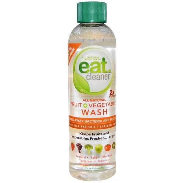 Eat Cleaner, All Natural Fruit + Vegetable Wash, 6 fl oz (177.44 ml)
