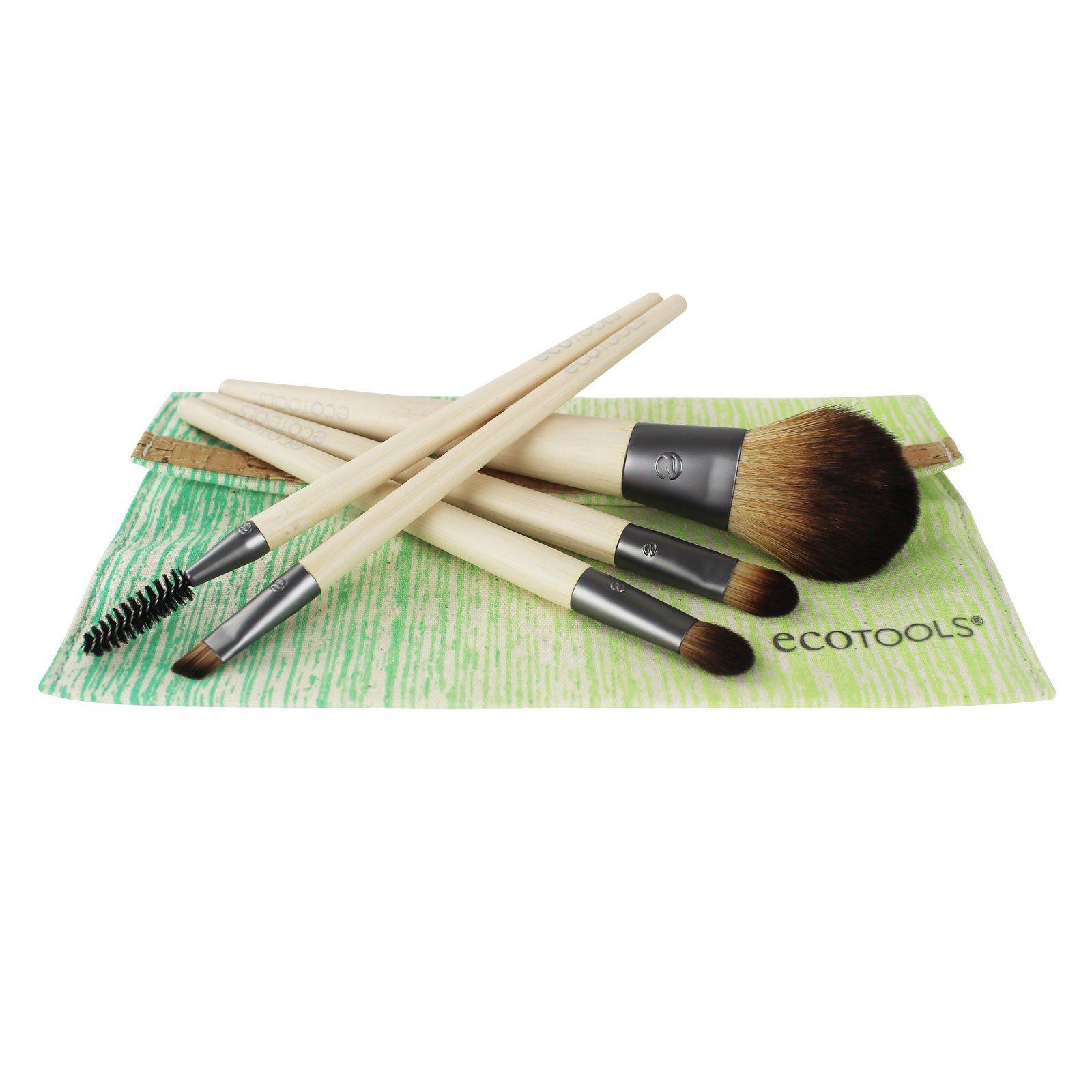 EcoTools, Бамбуковый набор из 5 кистей и косметички