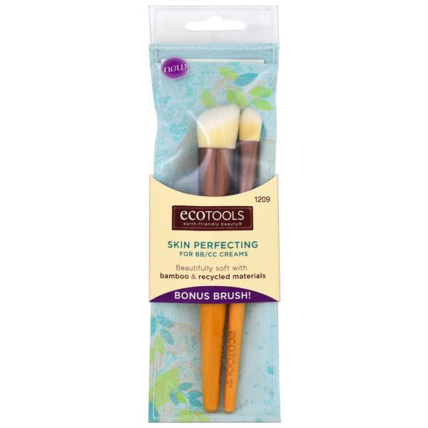 EcoTools, Skin Perfecting Brush for BB/CC Creams, 1 Brush + Bonus Brush