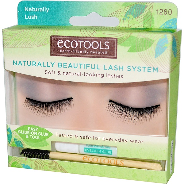 EcoTools, Naturally Beautiful Lash System, Naturally Lush, 1 Pair of Lashes (Discontinued Item)