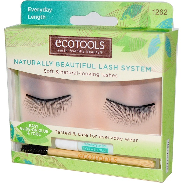 EcoTools, Naturally Beautiful Lash System, Everyday Length, 1 Pair of Lashes (Discontinued Item)
