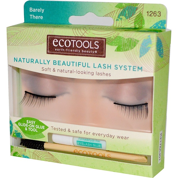 EcoTools, Naturally Beautiful Lash System, Barely There, 1 Pair of Lashes (Discontinued Item)